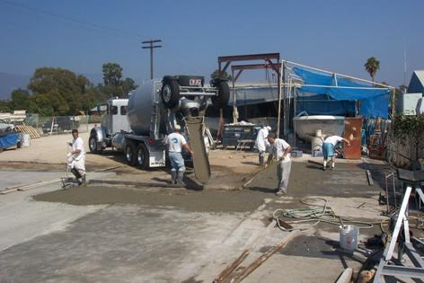 Paving the boatyard