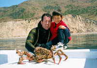 Lance & Kyle with Sheep Crab