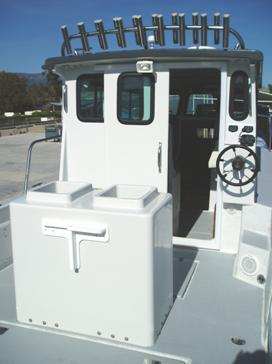 Bait tank and second station steering