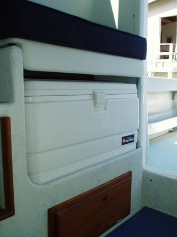Seat with ice chest storage