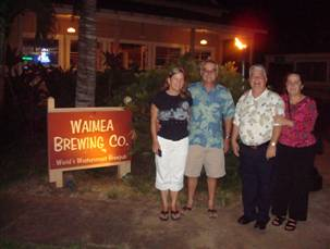 Linda & Don with Kauai Fire Chief Bob Westerman and his wife Ann