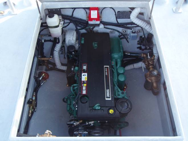 The boat has a Volvo D-6, 310 HP diesel engine