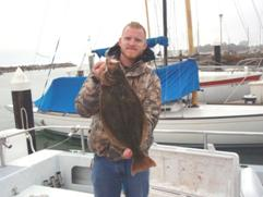 Bob with a halibut