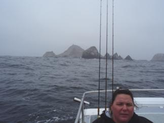 Kate at the Farallon Islands
