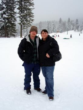 Jeremy and Kate at the Tamarack resort, December 2007