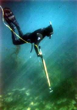 Don spearfishing off Santa Rosa Island