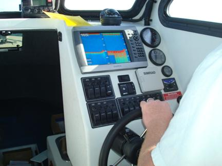 The dash with a Garmin 4212 multi-function display