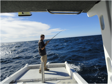 "Matthew tests the ""fishability"" of the new Molokai boat"