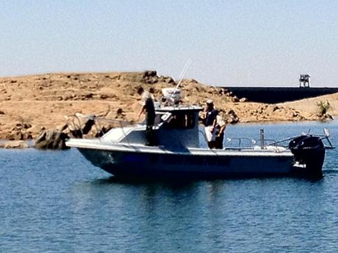 Sea trial on Millerton Lake