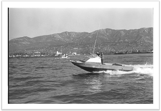 24' Radoncraft in the Santa Barbara Channel circa 1971