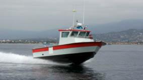 Port San Luis boat running fast