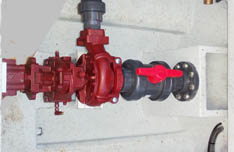 Close up of pump